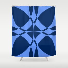 Abstract Circles - Sapphire Shower Curtain