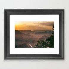 Grand Canyon - South Rim - Evening Haze Framed Art Print