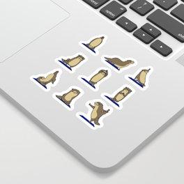 Otter Yoga Sticker