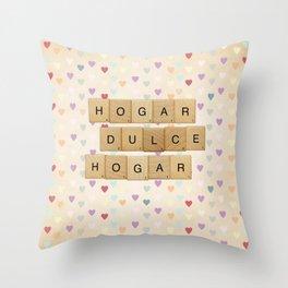 Hogar dulce Hogar (scrabble) Throw Pillow