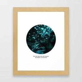 005: Glow Worm Cave, New Zealand Framed Art Print