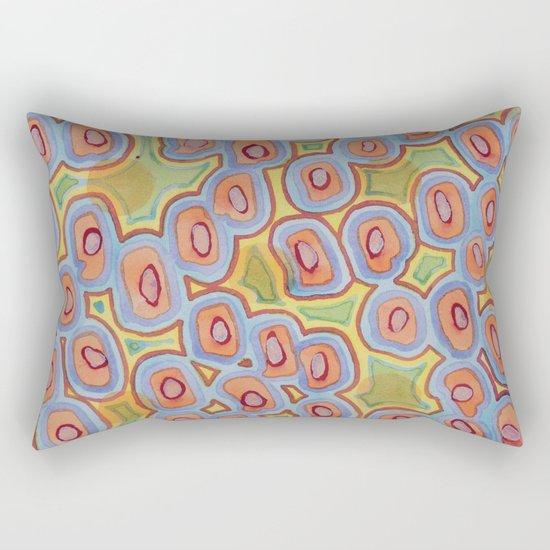 Pastel Colored Circles Pattern Rectangular Pillow