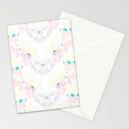 Floral Stripes Stationery Cards