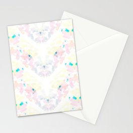 Floral Stripes Stationery Cards