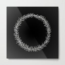 Minimalist wreath 02 Metal Print