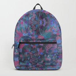 Silk Brocade Texture in Deep Lavender Backpack