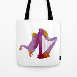 Cat and harp Tote Bag