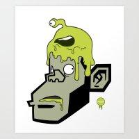 Marki zombie Art Print