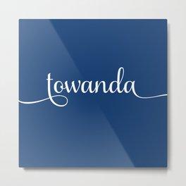 Towanda - french navy Metal Print