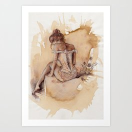 'Decolletage' Art Print