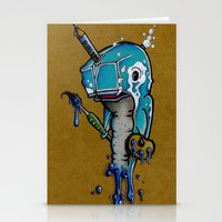 narwhal Stationery Cards featuring Narwhal by Mowgli Tattoo