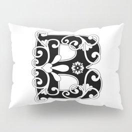 Initial Letter B Scroll Art Pillow Sham