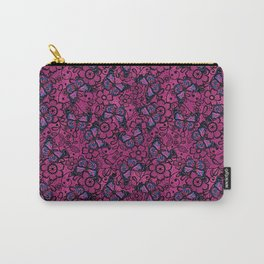 Pink and Blue Butterflies Carry-All Pouch