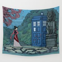 hallion Wall Tapestries featuring Cannot Hide Who I am Inside by Karen Hallion Illustrations