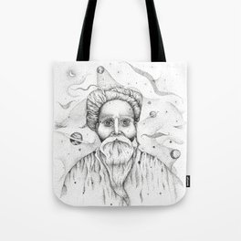 Aim for the moon, land in the stars Tote Bag
