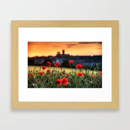 Cathedral and Poppies Framed Art Print
