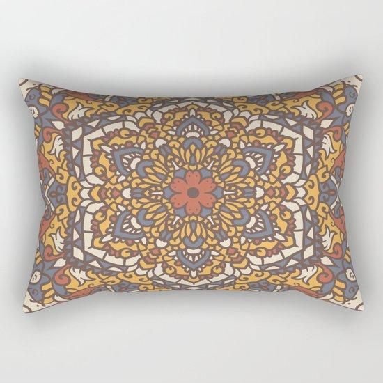 Vintage Mandala Flower Decoration 1 Rectangular Pillow
