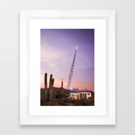 Rocket Desert Framed Art Print