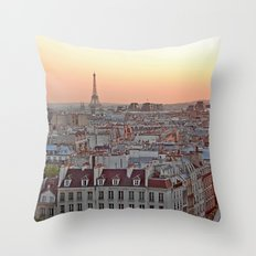 Paris en Rose Throw Pillow