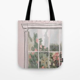 Victorian Greenhouse Watercolor Tote Bag