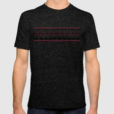 Space Invaders LARGE Tri-Black Mens Fitted Tee