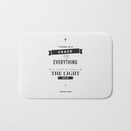 Leonard Cohen, Motivational Quote Bath Mat