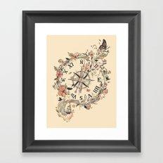 Au Revoir Framed Art Print