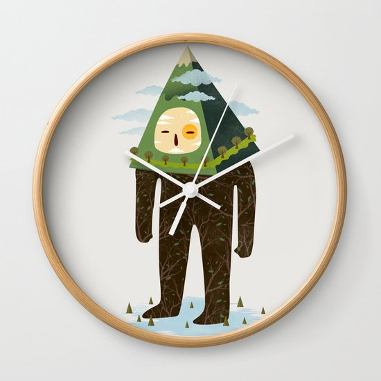 The Man Mountain Wall Clock