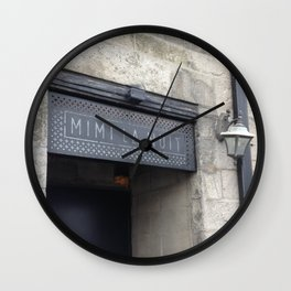 Door sign Old Montreal Wall Clock
