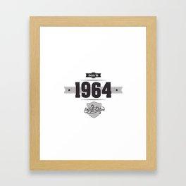 Born in 1964 Framed Art Print