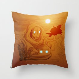 Primordia Horatio and Crispin walk in the sand Throw Pillow