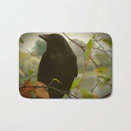fall crow Bath Mat