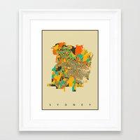 sydney Framed Art Prints featuring Sydney by Nicksman