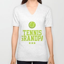 Grandpa Tennis Costume. Shirt For Grandpa Unisex V-Neck
