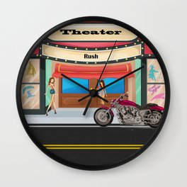 Theater by Liane Wright Wall Clock