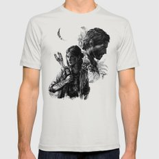 The Last of Us Part II Mens Fitted Tee Silver MEDIUM