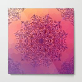 Happy Mandala Metal Print