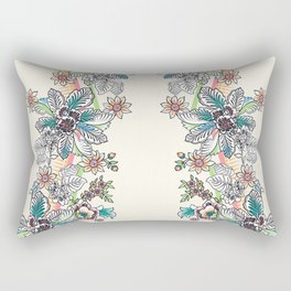 Wire Floral Rectangular Pillow