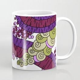 Wandering Abstract Line Art 13: Burgundy Coffee Mug
