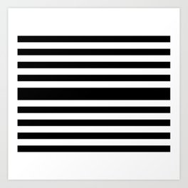 Simply Black White Art Print