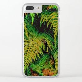 Camouflage Hidden Buddha in Ferns Clear iPhone Case