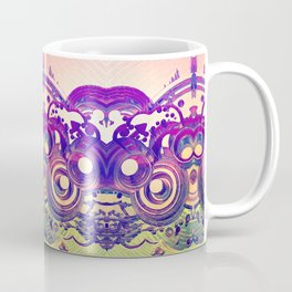 Retro 3D Rings Coffee Mug