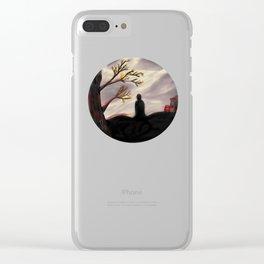 Dark Forest Scene Clear iPhone Case