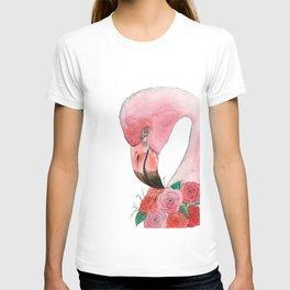 Flamingo and Roses T-shirt