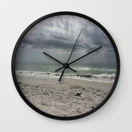 Lake Michigan storm Wall Clock