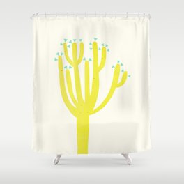 Modern Cactus Shower Curtain