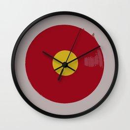 Red Vinyl Wall Clock