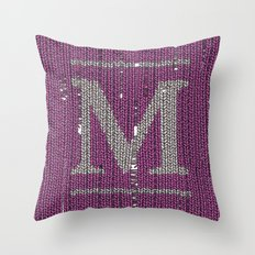 Winter clothes II. Letter M Throw Pillow