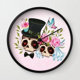 Together Forever - Sugar Skull Bride & Groom Wall Clock