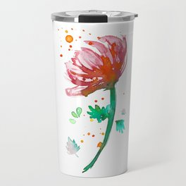 Warm Watercolour Fiordland Flower Travel Mug